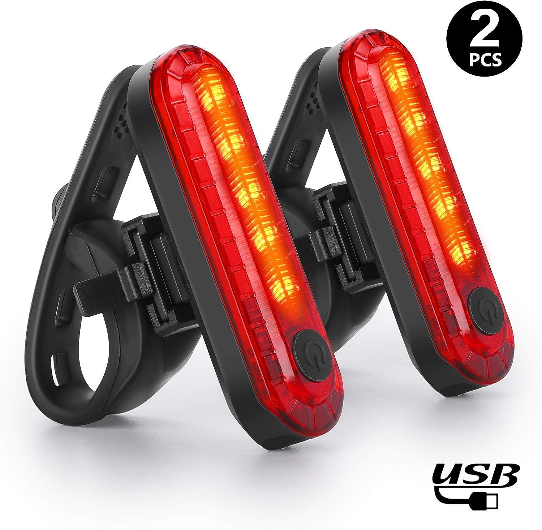 WQJifv - Luz Trasera para Bicicleta (LED, Recargable, USB ...