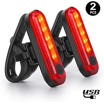 WQJifv - Luz Trasera para Bicicleta (LED, Recargable, USB, Resistente al Agua)