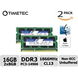 Timetec Hynix IC 16GB Kit (2x8GB) DDR3 PC3-14900 1866MHz Apple iMac 17,1  w/Retina 5K display (27-inch Late 2015) A1419 (EMC 2834) MK462LL/A, MK472LL/A, MK482LL/A (16GB Kit (2x8GB))