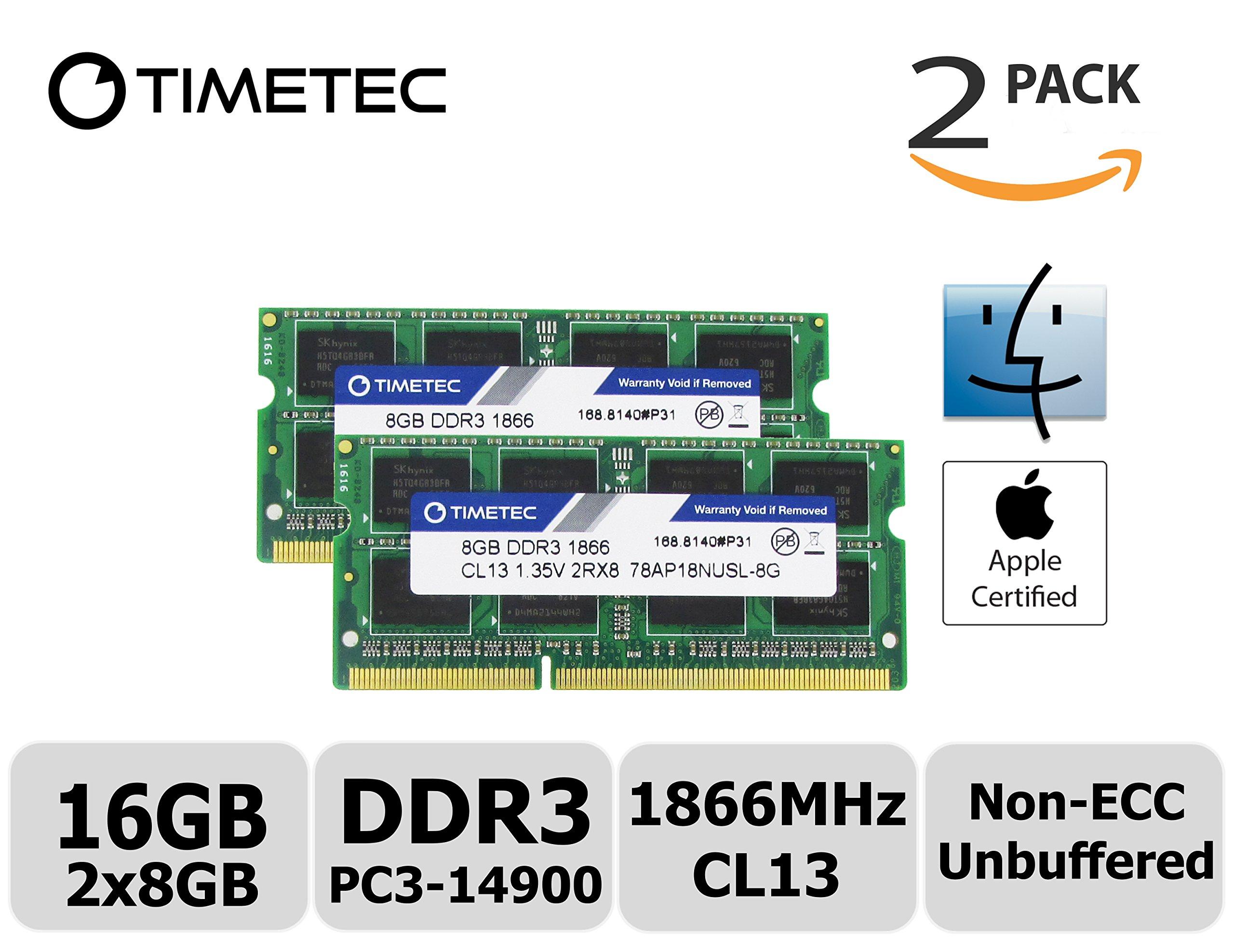 Timetec Hynix IC Apple 16GB Kit (2x8GB) DDR3 PC3-14900 1866MHz for iMac 17,1  w/Retina 5K display (27-inch Late 2015) A1419 (EMC 2834) MK462LL/A, MK472LL/A, MK482LL/A (16GB Kit (2x8GB))