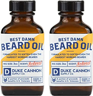 product image for Duke Cannon Supply Co. Best Beard Oil, 3oz - Redwood Scent (2 Pack) / Made with Natural and Organic Ingredients