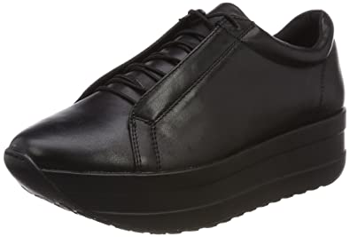 35a955da891 Vagabond Womens Casey Sister Wedge Heel Black Casual Leather Sneakers -  Black - 7.5