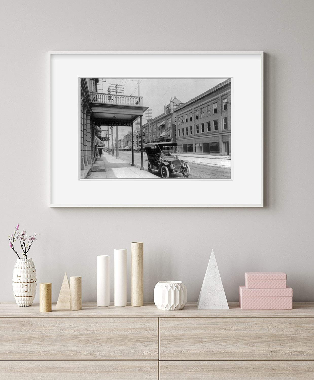 INFINITE PHOTOGRAPHS Photo The Jackson Hotel,Fremont,Ohio,OH,1906,Automobile,Car Parked on Street