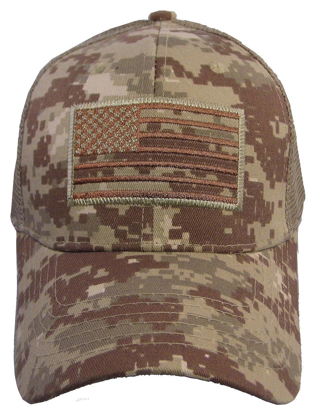 83164217102e2 USA American Flag Baseball Cap Military Army Operator Adjustable Hat (Acu.  Camo) at Amazon Men s Clothing store