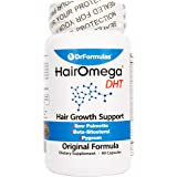 DrFormulas Original Hair Vitamins Without Biotin | HairOmega DHT Blocker | Hair Growth Supplement Pills, 45 Day Supply
