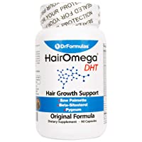 DrFormulas Original Hair Vitamins Without Biotin | HairOmega DHT Blocker | Hair...