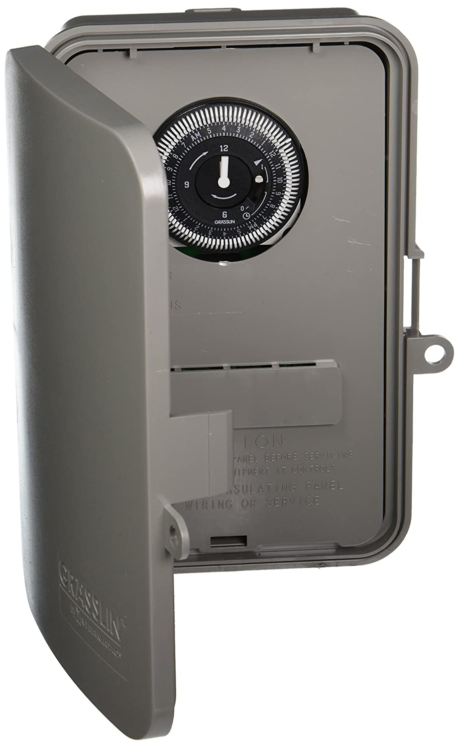 Grasslin by Intermatic GM40AV 24-Hour Electromechanical, 40A, SPDT/DPDT, Auto-Voltage, NEMA 3R Outdoor Plastic Enclosure
