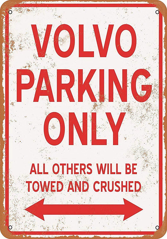 Volvo Parking Only Targhe Cartello Latta Targa in Metallo Retro Poster Arte Decorazione della Parete per Bar Pub Cafe