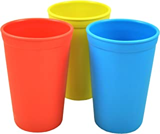 product image for Re-Play Made in The USA 3pk Drinking Cups for Baby and Toddler - Red, Sky Blue, Yellow (Preschool)