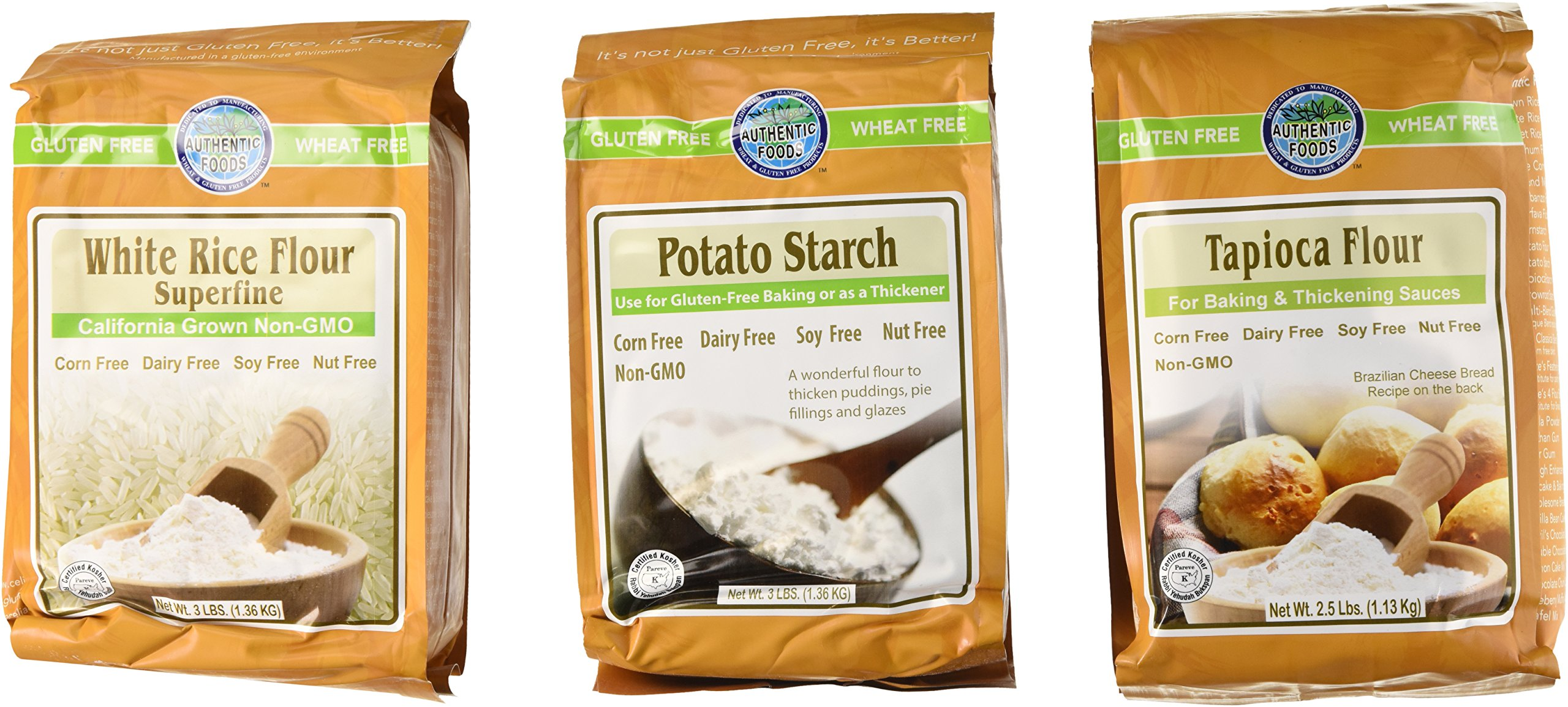 Authentic Foods Gluten Free Variety Pack (Pack of 3)