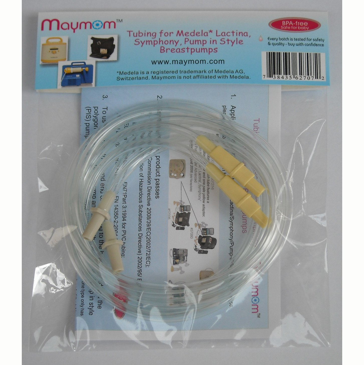 Maymom Breast Pump Kit for Medela Pump in Style Pumps; 2 Breastshields, 2 Valves, 4 Membranes, & 2 Tubes for Pump in Style Advanced Sold After July 2006; Replacement Parts for Medela Breast Shield, Medela Tubing, Valves and Membranes M001-2LF2V4M