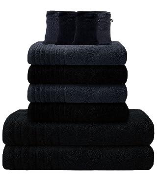 handtücher grau schwarz