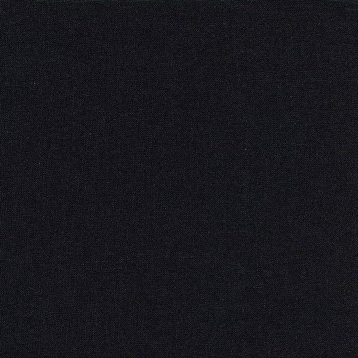 Textiles français Tela de algodón - Negro Intenso - 100% algodón Suave | Ancho: 155 cm (1 Metro): Amazon.es: Hogar