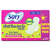 Sofy Body Fit Anti Bacteria Sanitary Napkins - XL (Pack of 54)