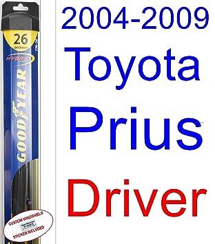 2004-2009 Toyota Prius Wiper Blade (Driver) (Goodyear Wiper Blades-Hybrid)  (2005,2006,2007,2008)