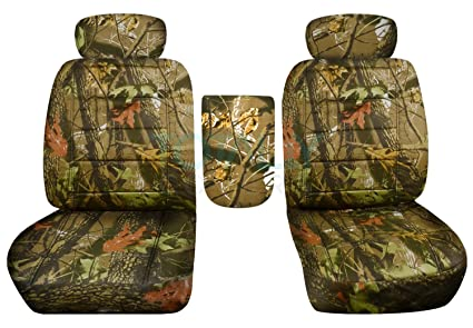 Stupendous 2001 2003 Ford F 150 Camo Truck Bucket Seat Covers With Center Armrest Adjustable Headrests W Wo Integrated Seat Belts Brown Real Tree Camouflage Caraccident5 Cool Chair Designs And Ideas Caraccident5Info