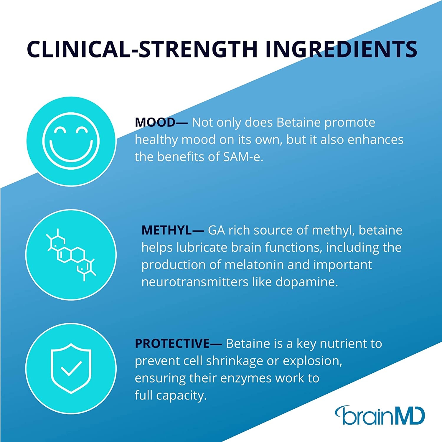 Amazon.com: Dr. Amen brainMD Betaine TMG - 1000 mg Trimethylglycine, 60 Capsules - Healthy Mood Support Supplement, Promotes Metabolism & Liver Health, ...