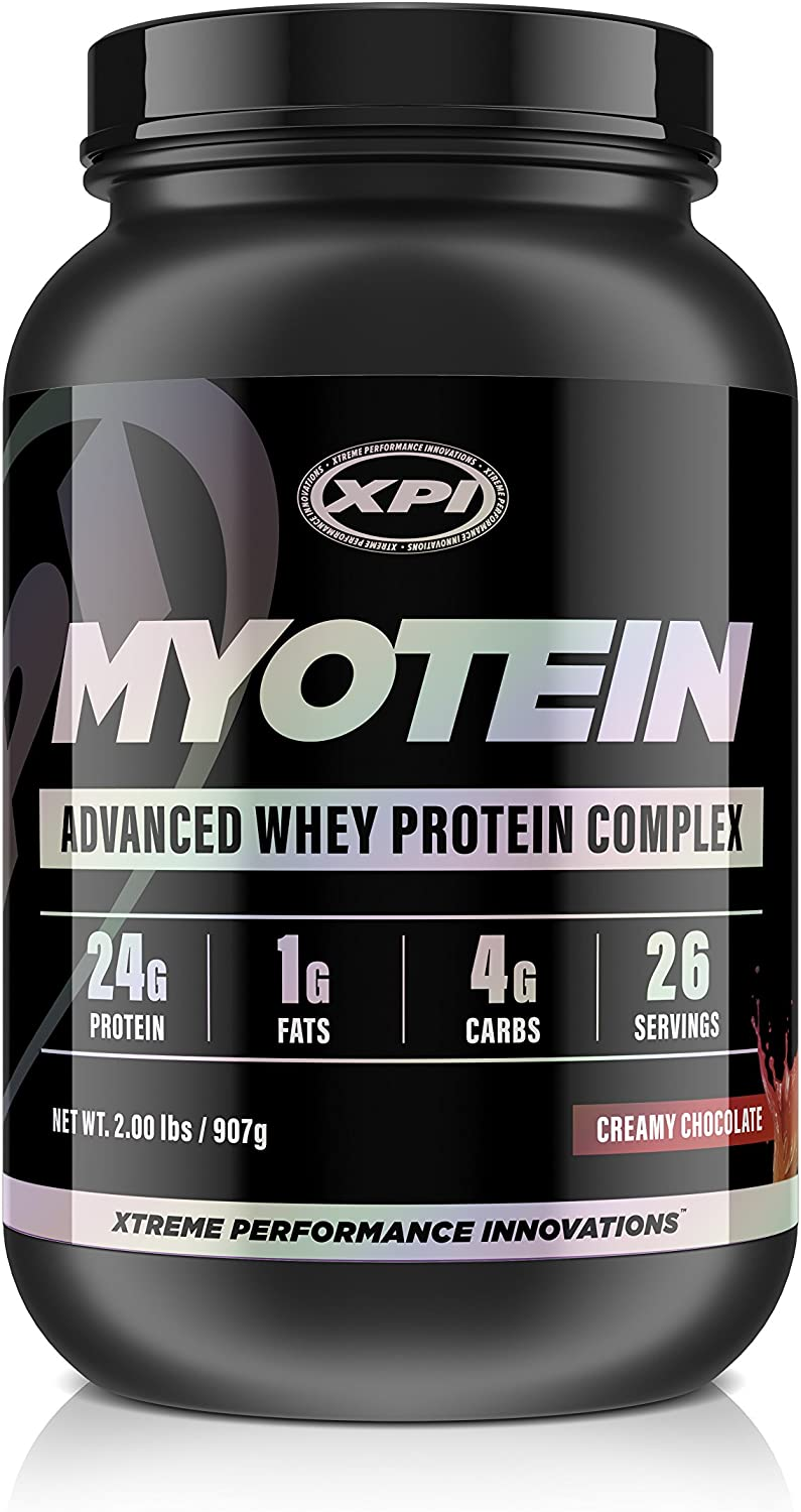 XPI Myotein Protein Powder Creamy Chocolate, 2lbs – Best Whey Protein Powder Complex – Great Tasting Protein – Hydrolysate, Isolate, Concentrate Micellar Casein