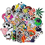 Random Sticker Variety Vinyl Car Sticker Motorcycle Bicycle Luggage Decal Graffiti Patches Skateboard Stickers for Laptop Stickers (50pcs)