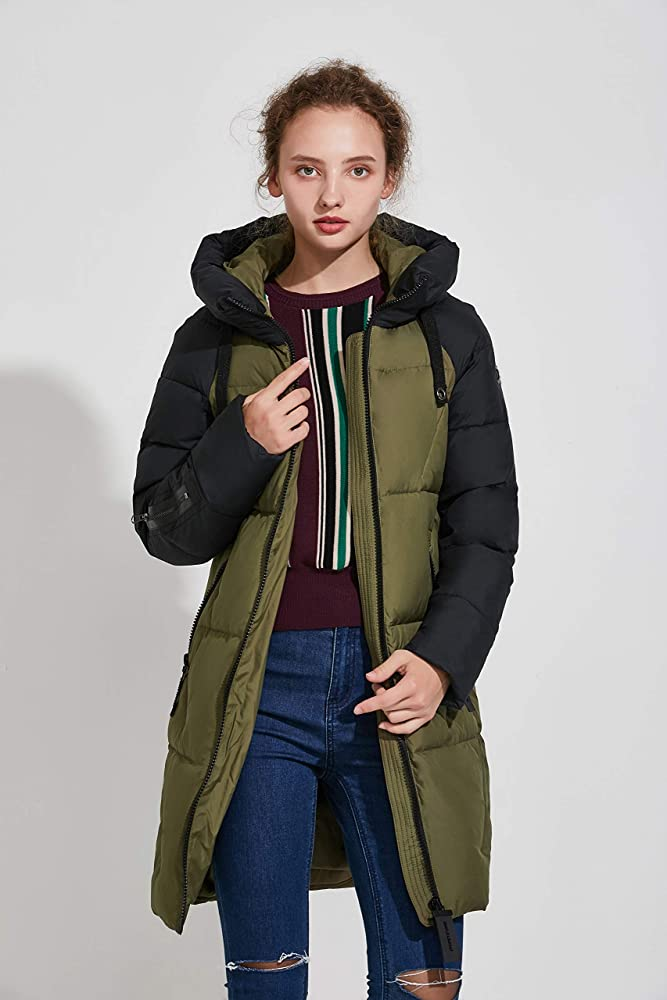 afaf7e6ed Women's Thickened Casual Down Jacket Hooded Mid-Length Down Puffer Jacket  Coats Parkas