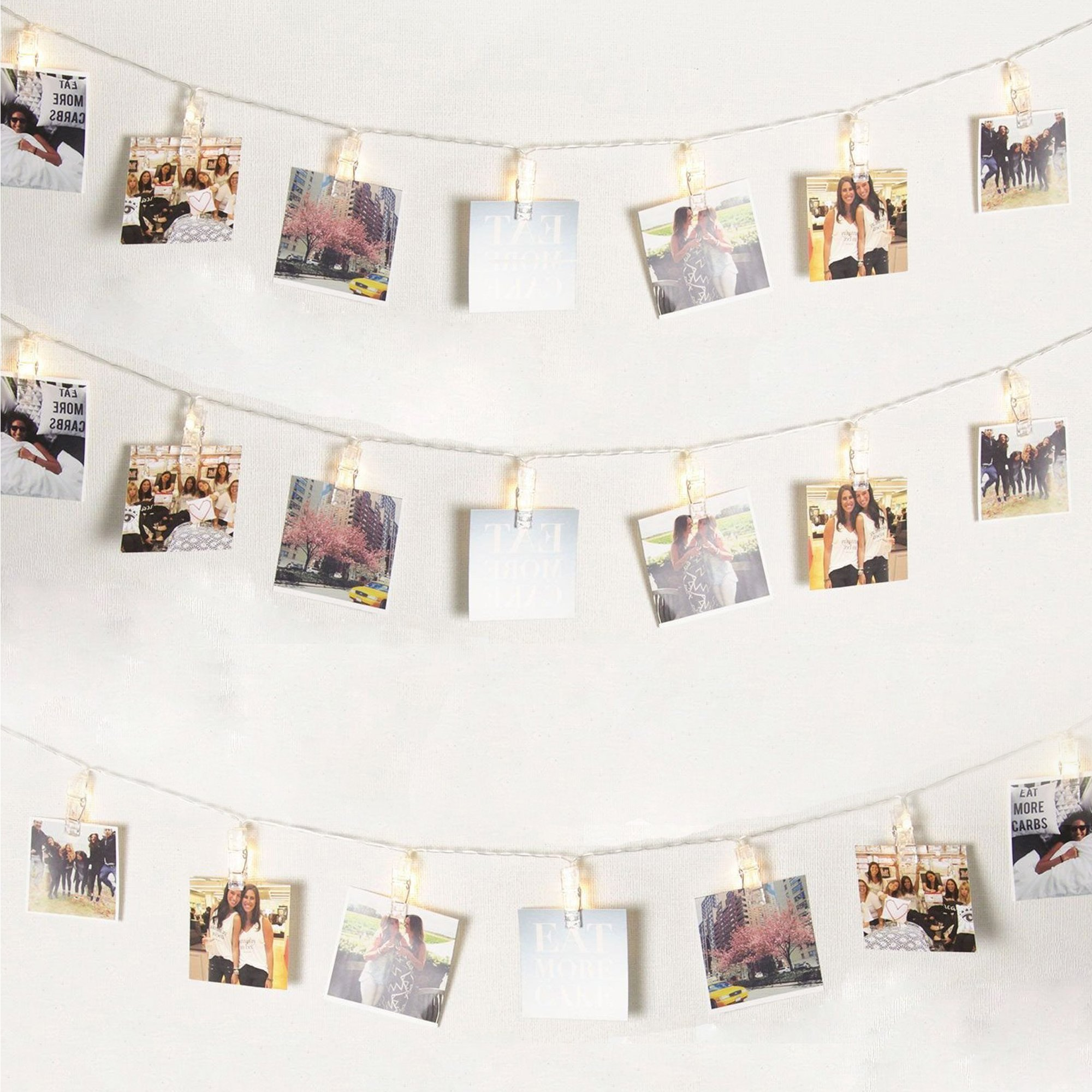 5m Hanging Picture Decoration Fairy Lights 20 Photo Clips String Lights in Warm White for Birthday Parties & Home Décor by Glift(TM) (Image #6)