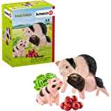 Schleich Farm World Miniature Pig Mother and Piglets 5-Piece Educational Playset for Kids Ages 3-8