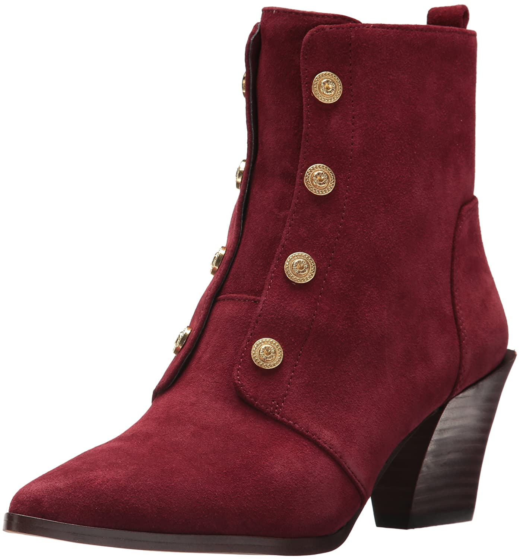 Nine West Women's Ellsworth Ankle Boot B06W2K697X 7 B(M) US|Wine Suede