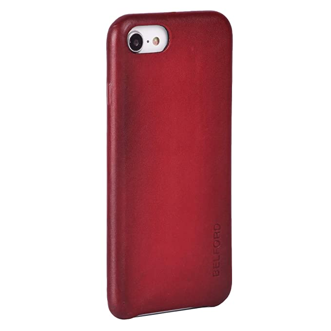red leather iphone 8 case