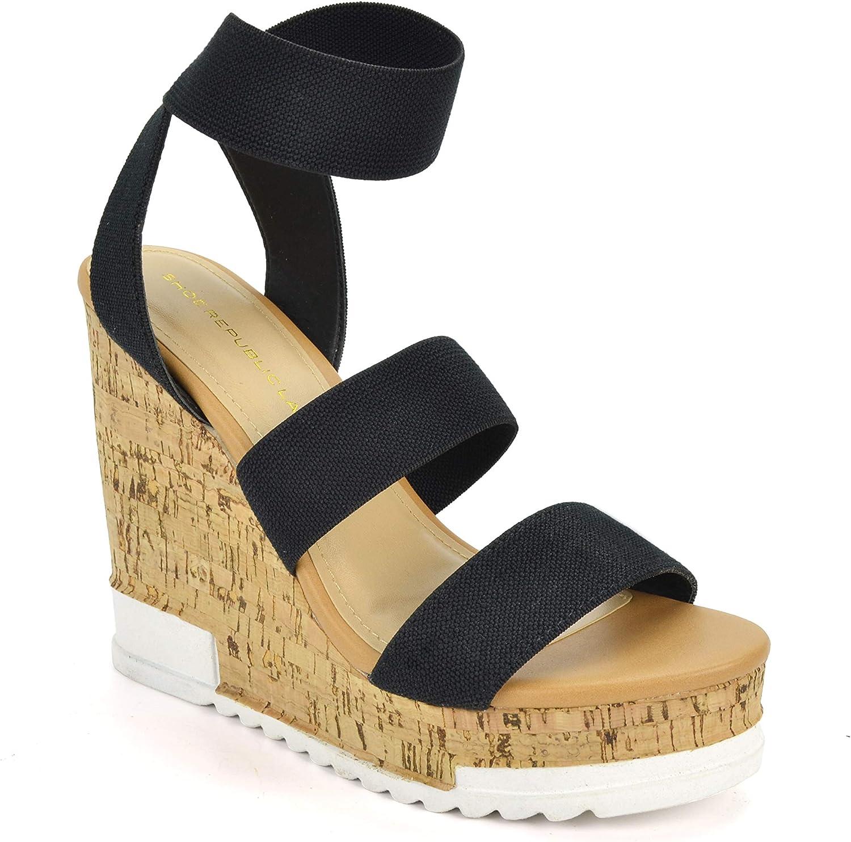 Platform Wedge Cork Sandals