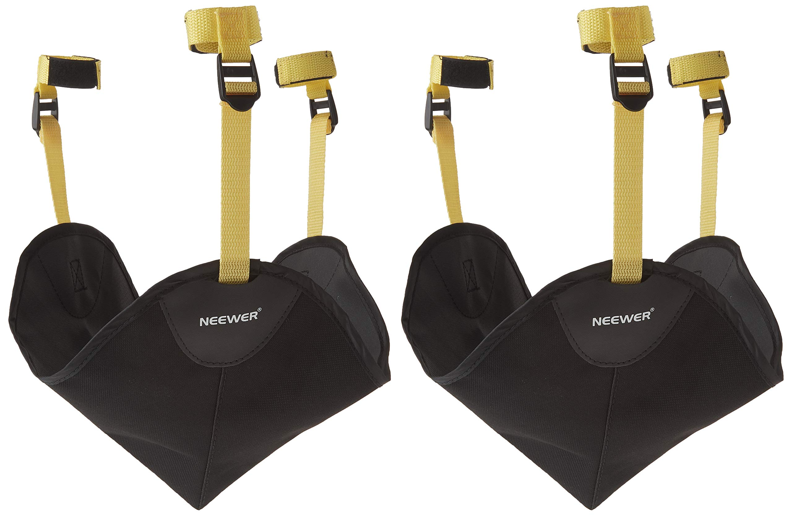 Neewer 2 Pack Black Heavy Duty Photographic Studio Video SandBag for Gitzo,Manfrotto,Didea and Benro Series Stands and Other Universal Light Stands, Boom Stand and Tripod by Neewer