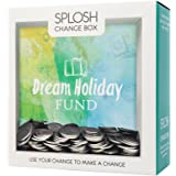 Splosh Change Box Coin Money Savings Fund Jar Container for Dream Fulfillment (Saving For My Dream Holiday)