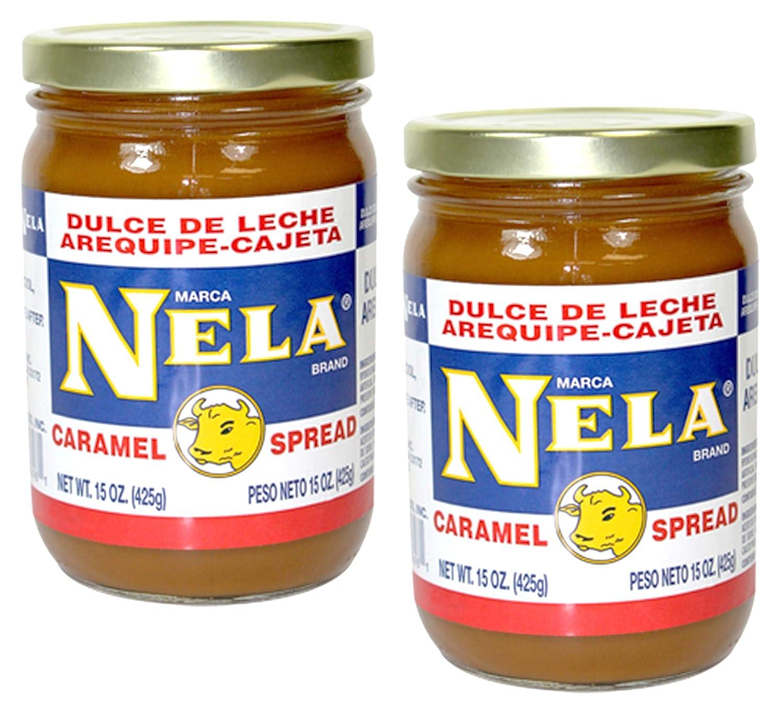 Amazon.com : Nela Dulce de Leche Arequipe Cajeta Caramel Spread 15 Ounces, 2 Pack : Grocery & Gourmet Food