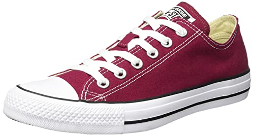CONVERSE CHUCK TAYLOR ALL STAR SNEAKERS UNISEX ADULTO ROSSO BORDEAUX 35