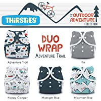 Thirsties Package Snap Duo Wrap Outdoor Adventure Collection, Adventure Trail, Size One (6-18 lb)
