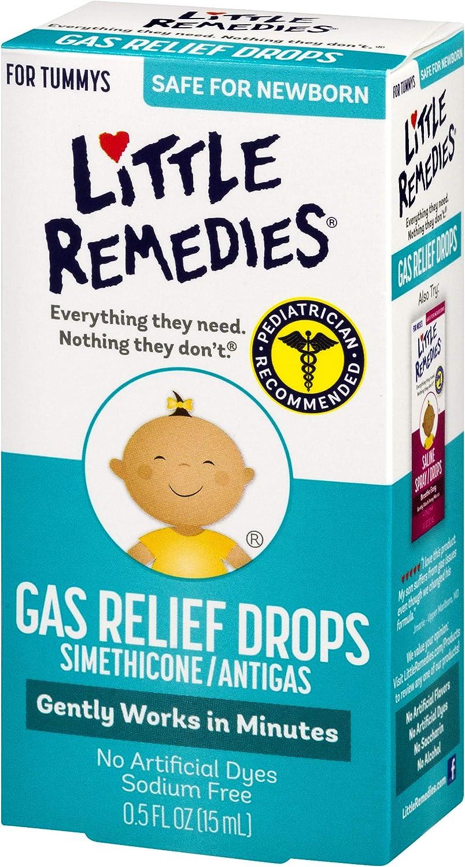 Little Remedies Gas Relief Drops | Berry Flavor | Safe For Newborns | 0.5 FL OZ