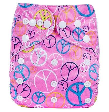 Bebé Pañales Lavables Reutilizable Pantalones de Entrenamiento Transpirable Sin Escapes Unisex Lindo talla única ?0