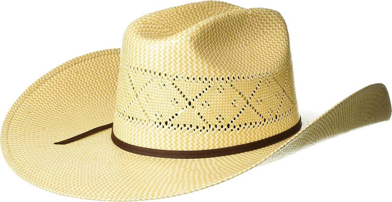 M/&F Western Mens Shantung 20x Maverick Ivory//Tan 7 3//8