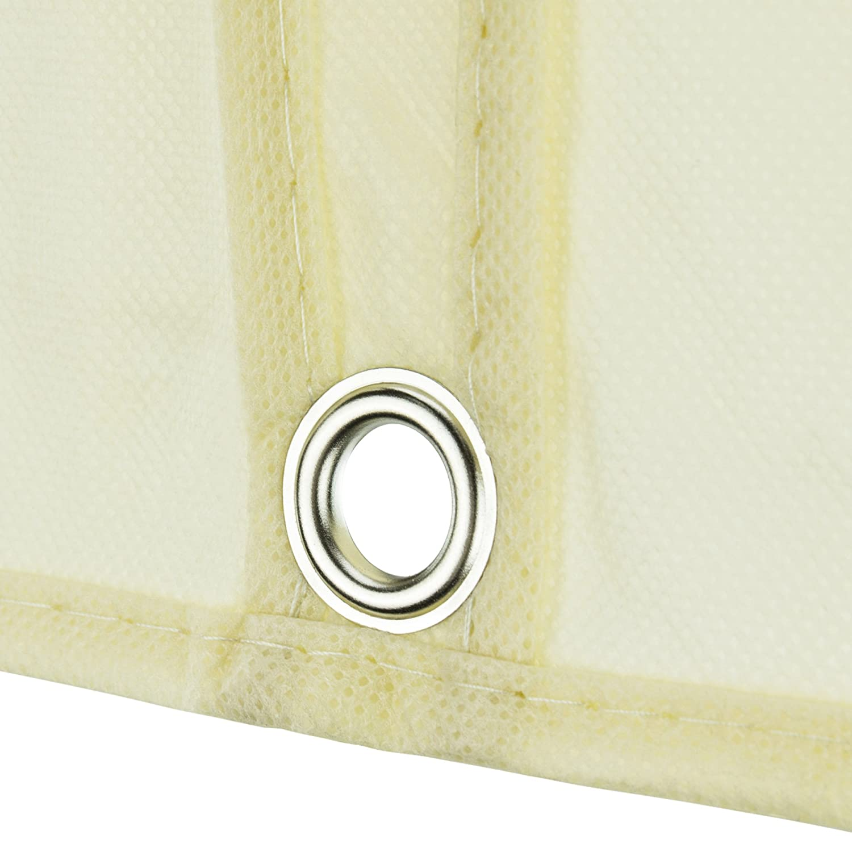 Hangerworld Funda Porta Traje 152cm Funda Ropa Transpirable Anti-Polilla con Cremallera Blanco Roto