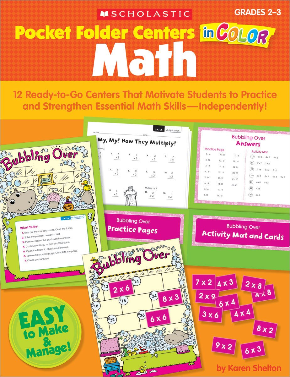 Read Online Pocket-Folder Centers in Color Math: 12 Ready-to-Go Centers That Motivate Students to Practice and Strengthen Essential Math Skills—Independently! pdf epub