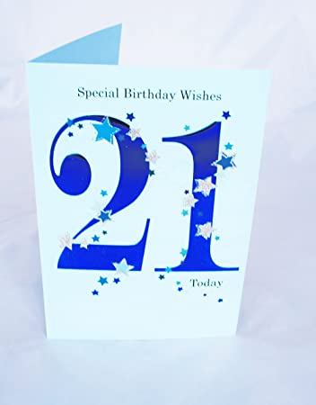 Happy 21st birthday card for him boys mens male blue verse poem happy 21st birthday card for him boys mens male blue verse poem luxury card bookmarktalkfo Images