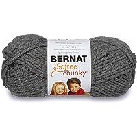 Bernat Softee Chunky Yarn,  Gris (True Grey), 1 unidad