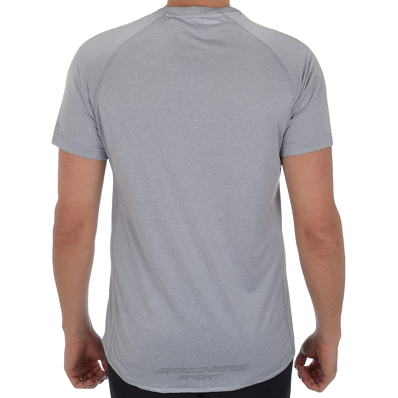 Skechers Herren Schnelltrocknend Sport T shirt Kurzärmeliges