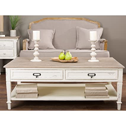 Baxton Studio Dauphine Traditional French Accent Coffee Table, White
