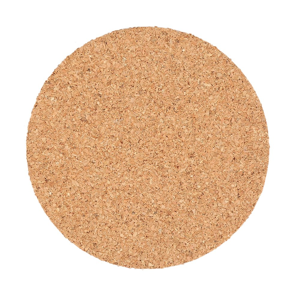 axusndas 1pcs Natural Classic Round Plain Cork Coasters Drink Wine Mats Cork Mats for Wedding and Party Gift
