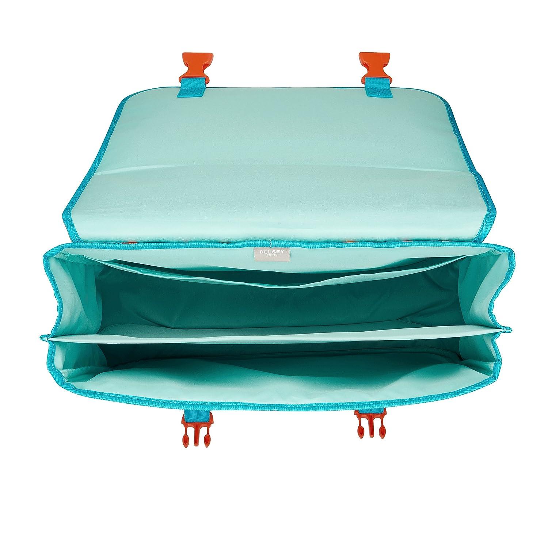 21 L DELSEY PARIS Scolaire 2018 Cartable Turquoise 42 cm