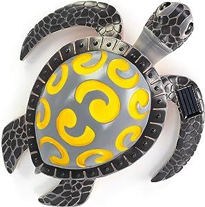 VP Home Tribal Sea Turtle Solar Powered LED Outdoor Decor Garden Light