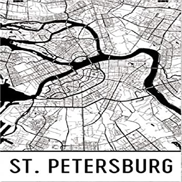 Map St Petersburg Florida.Amazon Com St Petersburg Poster St Petersburg Wall Art St