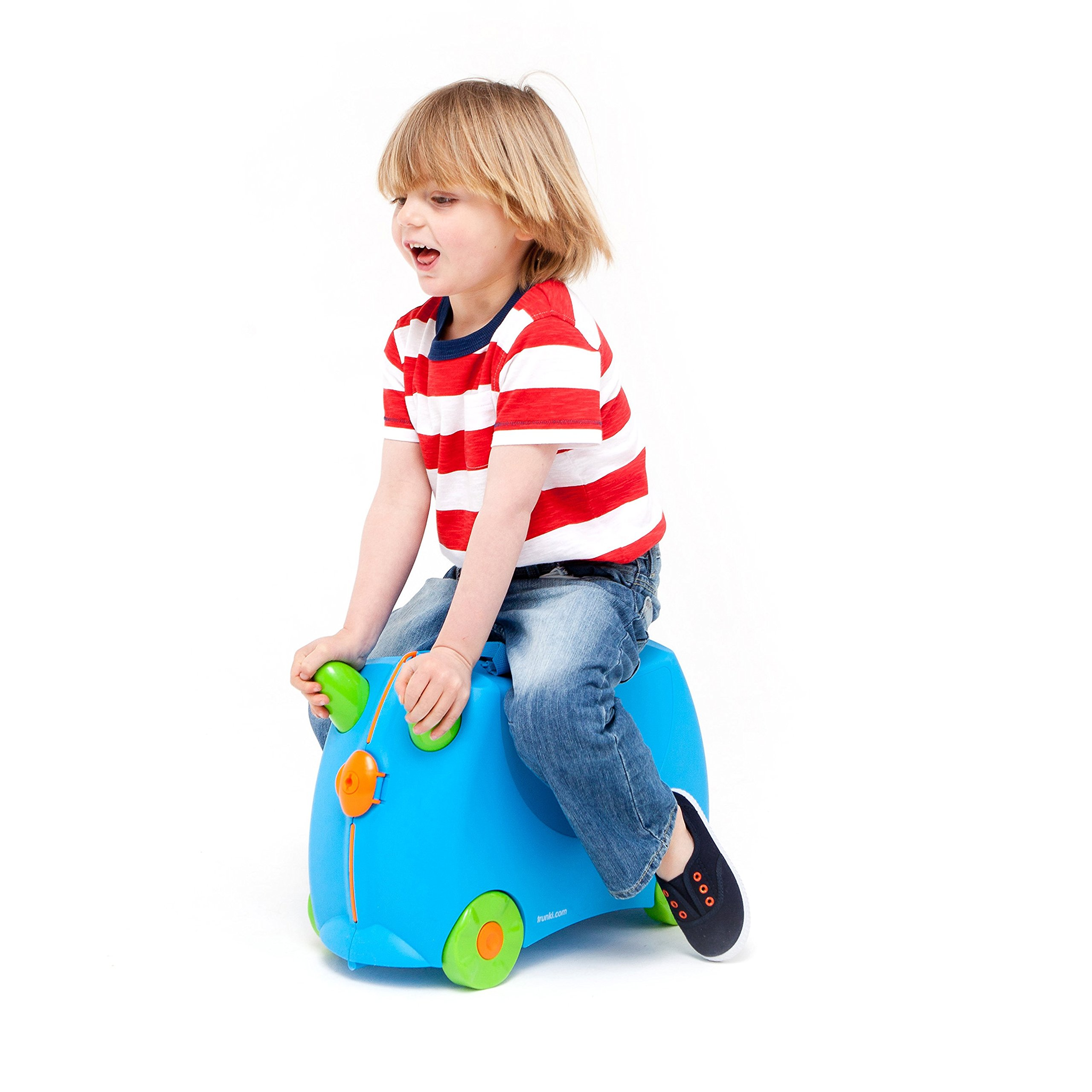 Trunki Original Kids Ride-On Suitcase and Carry-On - Terrance (Blue) by Trunki (Image #3)