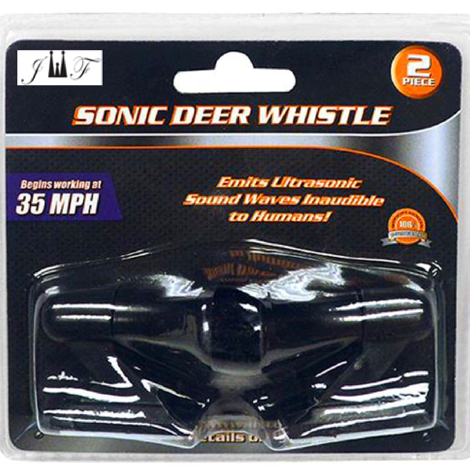 JEWELS FASHION Set of Two Ultrasonic Deer Whistle Alerts-Begins Working at 35 MPH-Powered by Wind Energy, Non-Electric TL-1087
