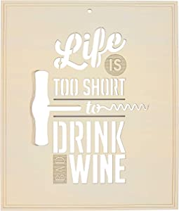 Fourth Level Manufacturing Funny Wine Decor For Kitchen And Dining Room, Wine Kitchen Wall Art To Make You Laugh, Wooden Wine Wall Art Decor For Home, Humorous Home Dec